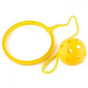קפיצות צעצוע סווינג כדורים - משחק כושר נהדר לילדים (צהוב)
