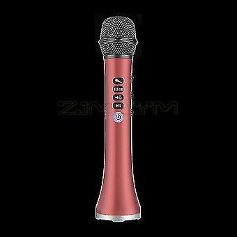 Microphones l-698dsp 20w bluetooth wireless microphone handheld karaoke mic usb mini home ktv for music