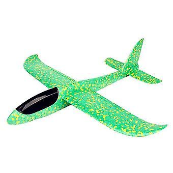 Diy kinderen hand gooien vliegende vliegtuigen zweefvliegtuig speelgoed (30cm groen)