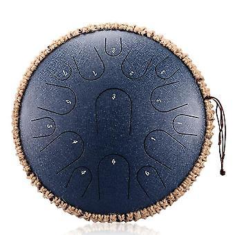 Nouveau tambour à langue en acier 13 pouces 15 tons tambour de réservoir portatif tambour percussion instrument de yoga méditation