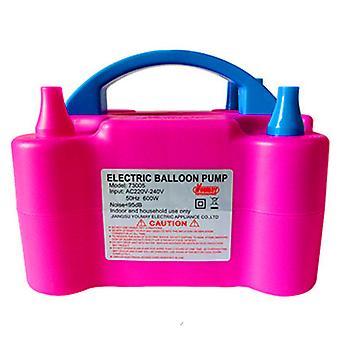 Homemiyn Double Hole Electric Balloon Pump Electric Balloon Inflator Pump