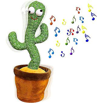 Drôle de plante de danse électrique Cactus Peluche Peluche Toy avec de la musique pour les enfants
