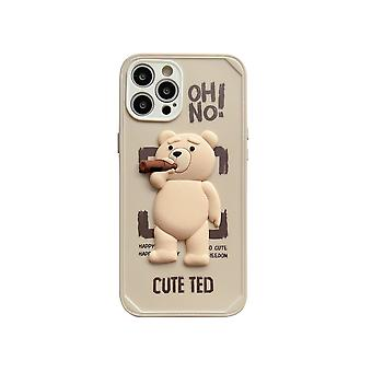 Tpu Mobile Phone Case Is Suitable For Iphone 13  White Mobile Phone Case Cute Ted Bear Couple Type Silicone Smart