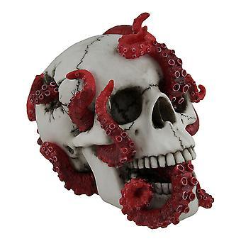 Бездна таится в красный осьминог, населяющих статуя человеческого черепа