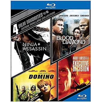 4 film favoritter: Action thrillere [BLU-RAY] USA importere