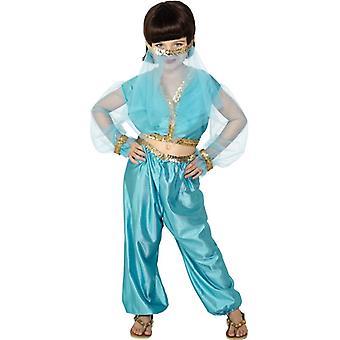 Prinzessinkostüm Kinder Arabien Bauchtanz Kostüm 6-8 Jahre GrM