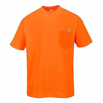 Portwest - Tag-Vis Lightweight Rundhals Kurzarm T-Shirt mit Brusttasche
