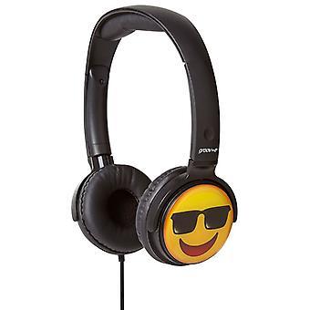 Groov-e EarMOJI Kids Headphones 1.2M cord Cool Face (Model No. GVEMJ15)