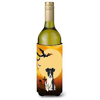 Halloween Smooth Fox Terrier Wine Bottle Beverge Insulator Hugger