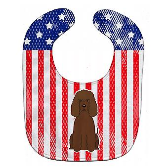 Carolines Treasures  BB3058BIB Patriotic USA Irish Water Spaniel Baby Bib