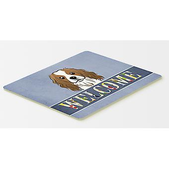Cavalier Spaniel Welcome Kitchen or Bath Mat 20x30