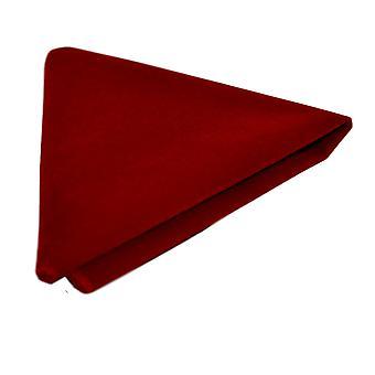 Plaza de lujo rojo terciopelo bolsillo, pañuelo