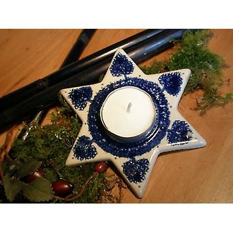 Estrelas como um chá luz, tradição, cerâmica Bunzlau, 2ª escolha - 0203 BSN