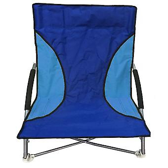 Folding Beach Camping pêche chaise jardin chaise selle basse bleu