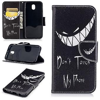 Motivo de carteira de bolso 40 para proteção de capa Samsung Galaxy J3 J330F 2017 manga caso malote
