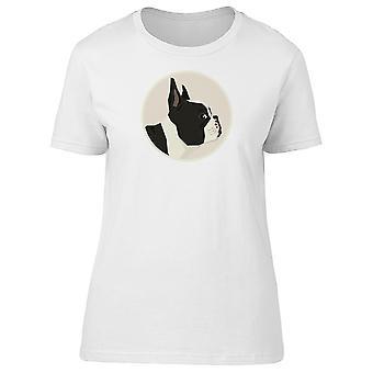Tegneserie fransk Bulldog Tee kvinders-billede af Shutterstock