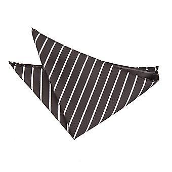 Svart & vit singel Stripe Pocket Square