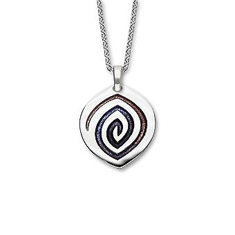 Sterling Silver Traditional Scottish Maggies Sirocco Enamel Hand Crafted Necklace Pendant
