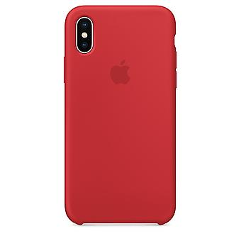 Doos MQT52 Apple siliconen Micro vezel cover case voor iPhone X - rood