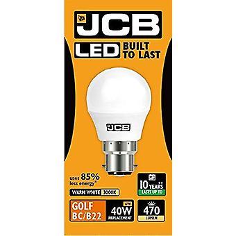 1 JCB X LED 6w = 40w BC/B22 Golf Ball ampoules baïonnette bouchon 470lm blanc chaud 3000k Dimmable Non [classe énergétique A +]