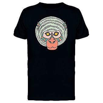أصفر العينين القرد القبلية الفن المحملة الرجال-الصورة عن طريق Shutterstock