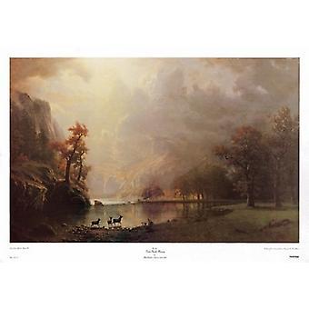 Sierra Nevada Morning Poster Print by Albert Bierstadt (38 x 25)
