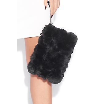 Flauschige Clutch-Tasche