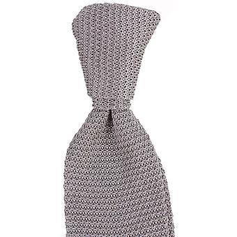 Knightsbridge plaine de cravates soie tricoté Tie - Silver