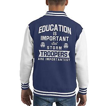Opprinnelige Stormtrooper utdanning er viktig barneklubb Varsity jakke