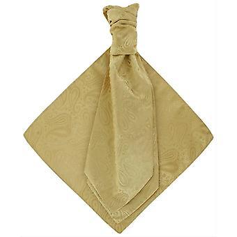 Conjunto de Michelsons de Londres Paisley Tonal gravata e lenço de bolso - ouro