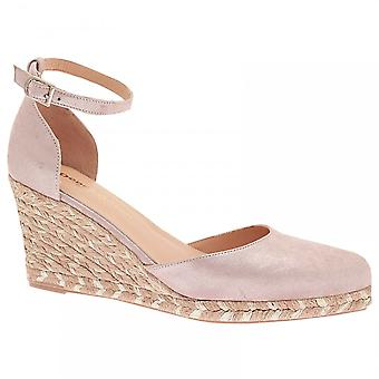 Pedro Anton Wedge Ankle Strap Closed Toe Shoes