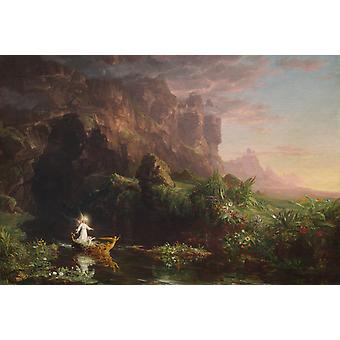 The Voyage of Life: Childhood, Thomas Cole, 60x40cm