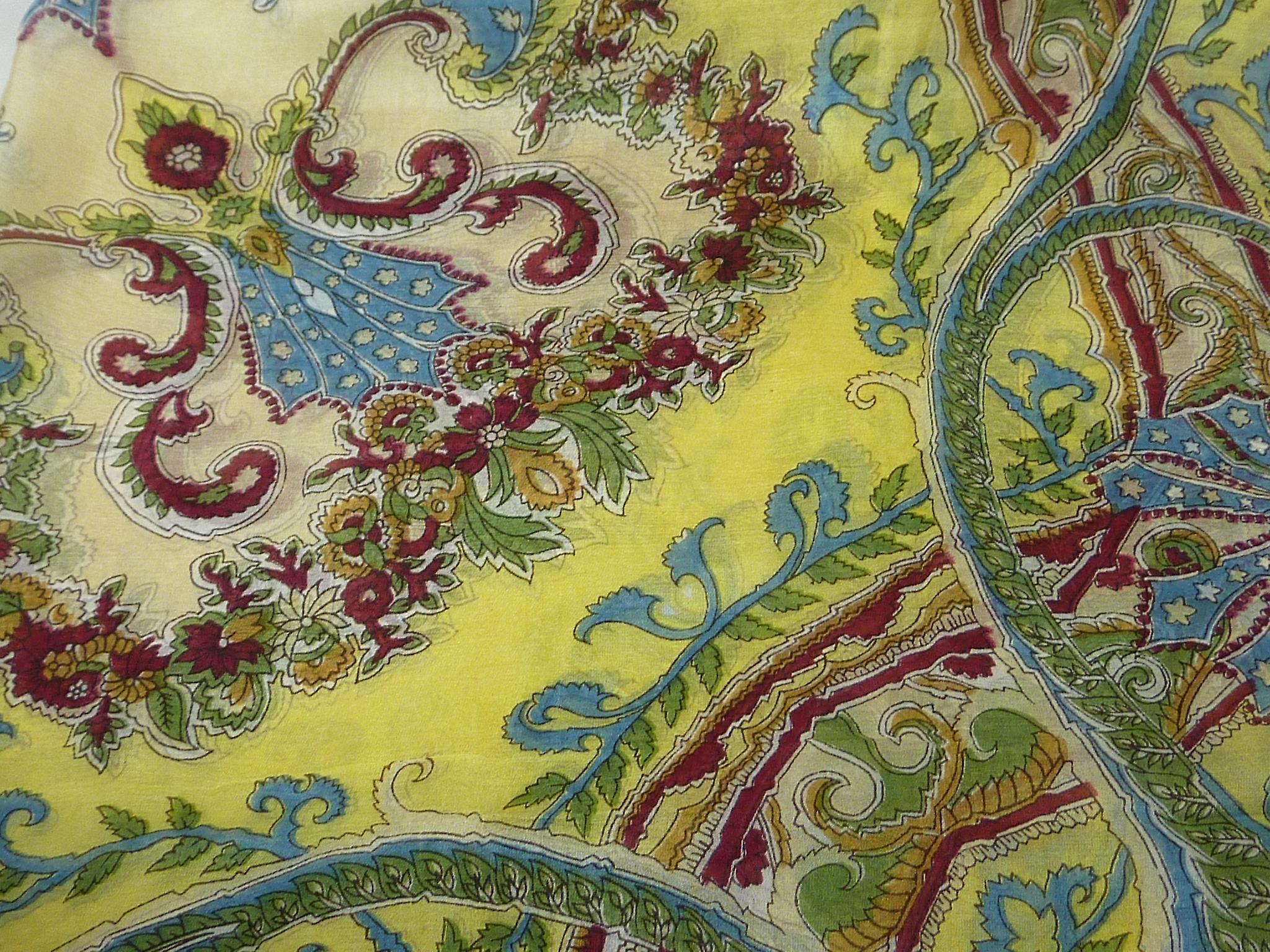 Mulberry Silk Classic Square Scarf Querim Gold by Pashmina & Silk