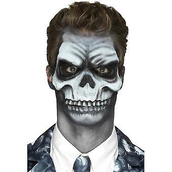 Schuim Latex Skull Head prothetische, wit, met lijm