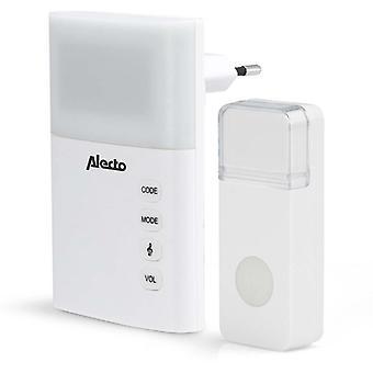AC Plug-In Trådlöst Dörrklockset med LED Indikator - Vit