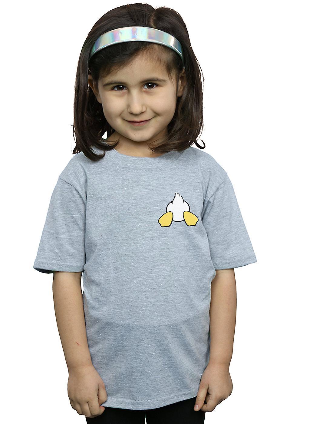 Disney Girls Donald Duck Backside Breast Print T-Shirt