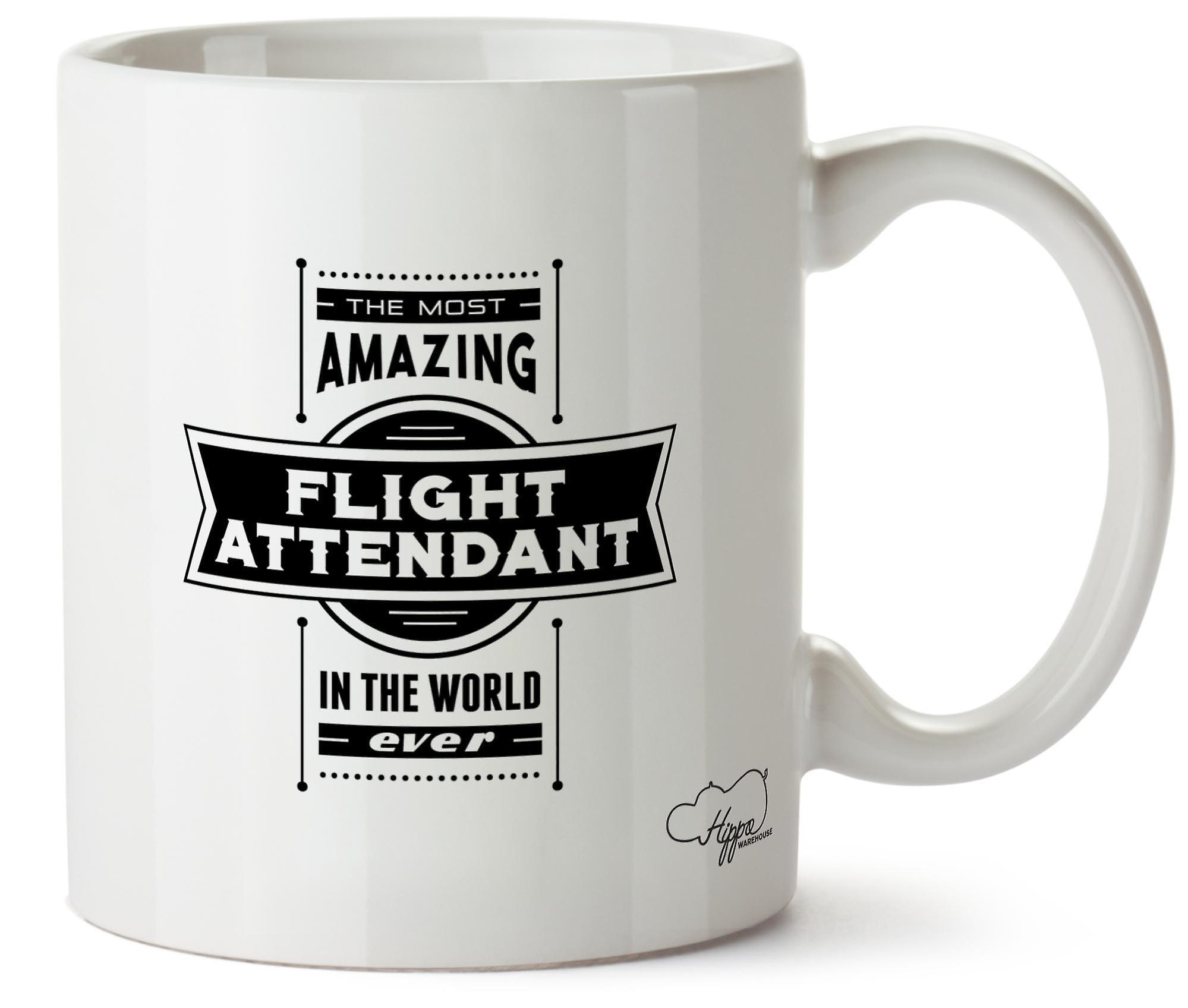 Hippowarehouse самых удивительных рейс дежурный печатных кружка Кубок керамические 10oz