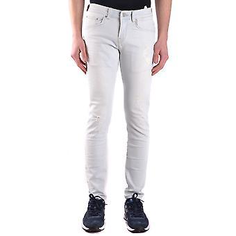 Brian Dales Ezbc126012 Men's White Cotton Jeans