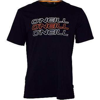 O ' Neill Logo Triple Crew-Neck T-Shirt, encre bleu