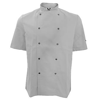 Dennys Unisex Short Sleeve Stud Button Chef Jacket (Pack of 2)