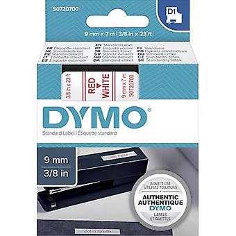 Labelling tape DYMO D1 40915 Tape colour: White Font colour:Red 9 mm 7 m