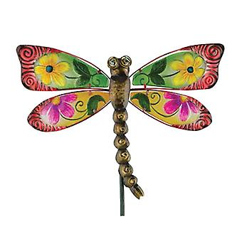Regal Garden Decor Floral Dragonfly Stake