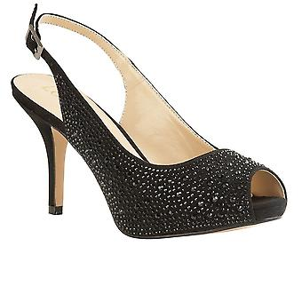 Lotus Astro Womens Peep-Toe Slingback Court Shoe