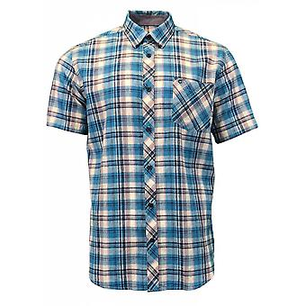 PETER GRIBBY Peter Gribby Cotton Linen Short Sleeve Shirt