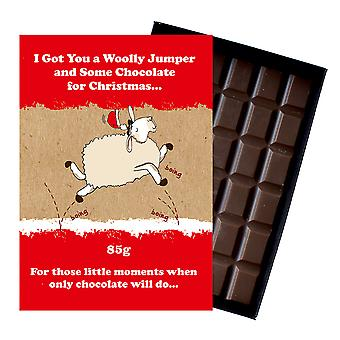 Funny Christmas Gift For Men Women Boxed Chocolate Festive Xmas Present for Him or Her XMS109