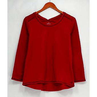 Cuddl Duds Petite Sleepshirt Fleecewear Stretch Novelty Red A297370