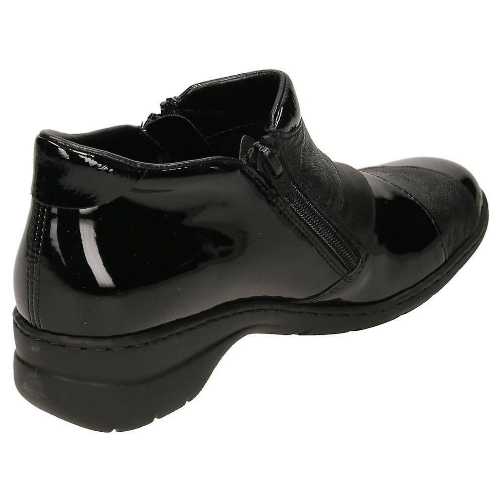 Chaussures De Botte Cheville En Cuir Rieker