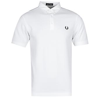 Fred Perry Button Down camisa polo negra