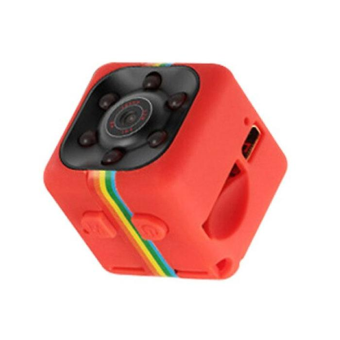Stuff Certified® SQ11 Mini Camera HD 1080p Nightvision Motion Detector Red