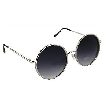 Sunglasses UV 400 Round silver ZwartHL207_4